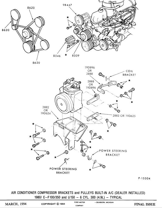 ford inline 6 200 diagram