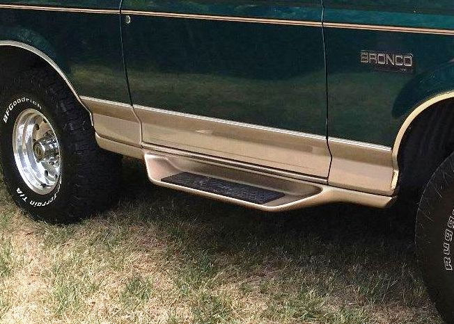 Ford Bronco factory side steps / running boards - Ford ...