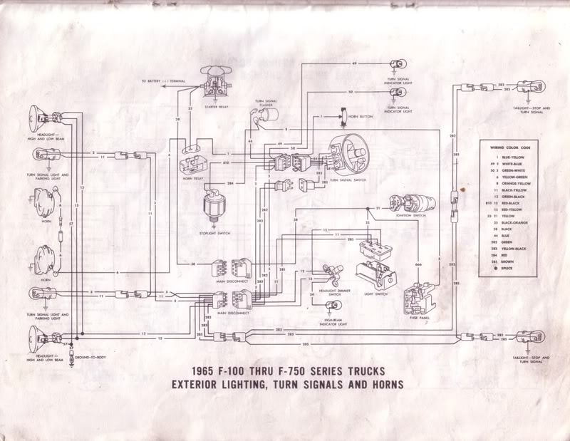 65 f250 - turn signal circuit shorts - ford truck ... 2001 ford f 150 turn signal wiring diagram 1969 ford f 250 turn signal wiring diagram #14