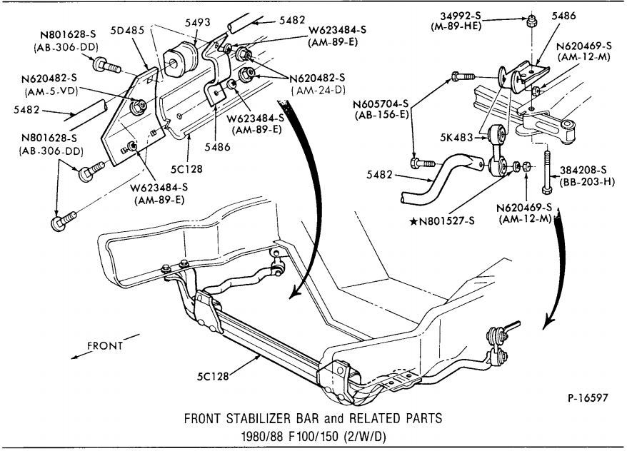 85 f150 front sway bar 2wd