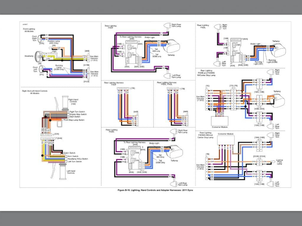 2014 street glide tail light wiring diagram: 2011 street bob brake/signals  wiring -