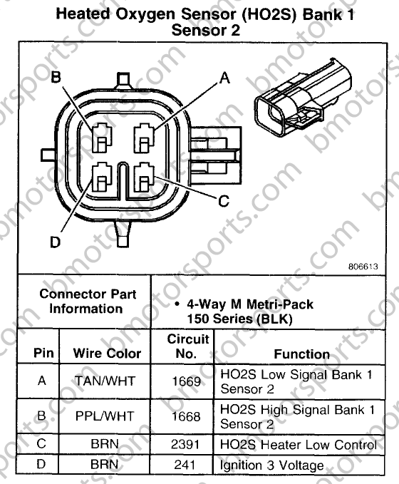Gm 3 Wire O2 Sensor Wiring Diagram