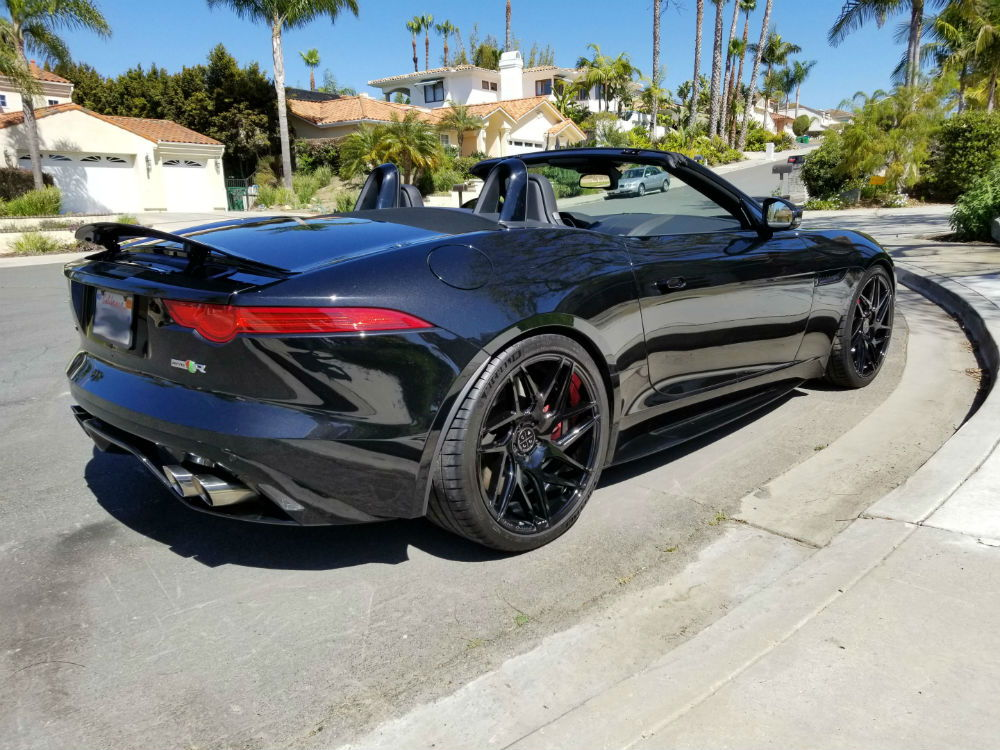 "Jaguar F Type R badass VelocityAP Exhaust + 20"" BD wheels for sale"