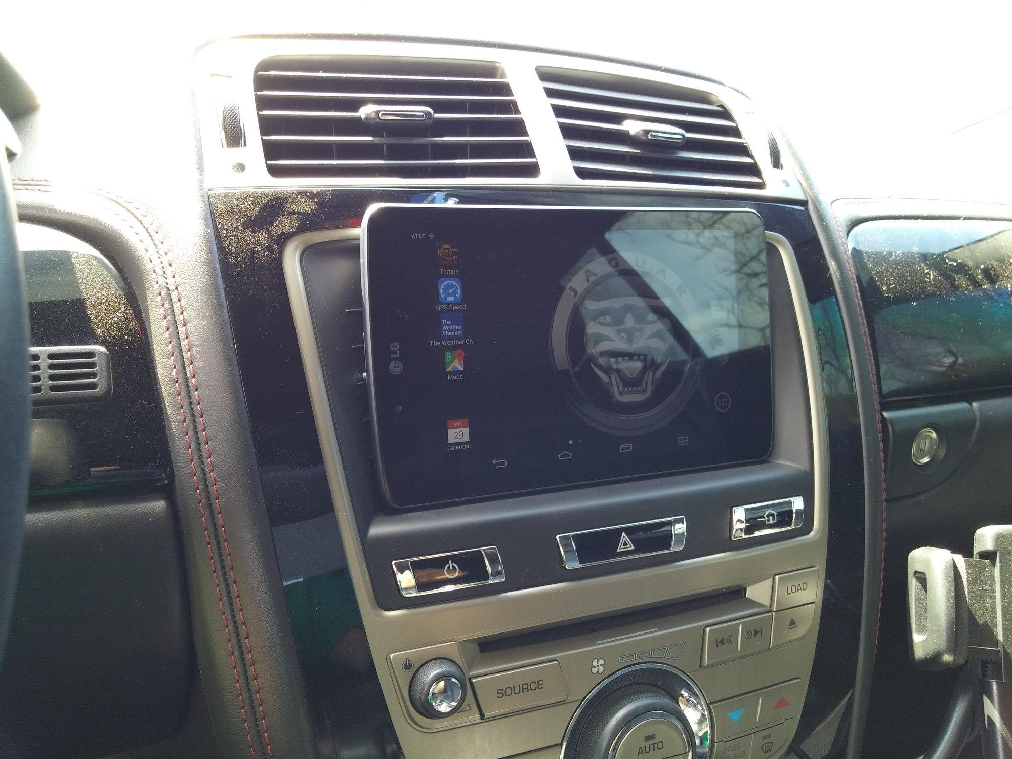 Mounting tablet to dash  - Jaguar Forums - Jaguar
