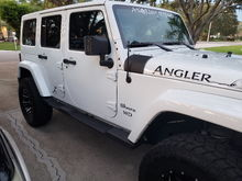 """It's been the theme on all 3 of my Jeeps in the past... This one, I made up the """" Shore WD """"... Lol"""