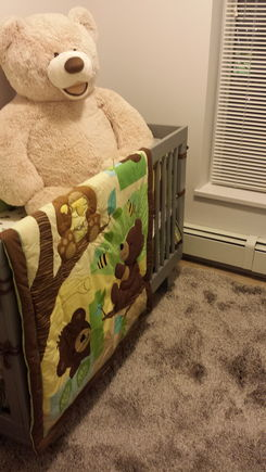 Crib set up :)