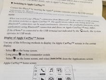 Copy of page 3 from Android Auto/ApplePlay instruction book provided post upgrade