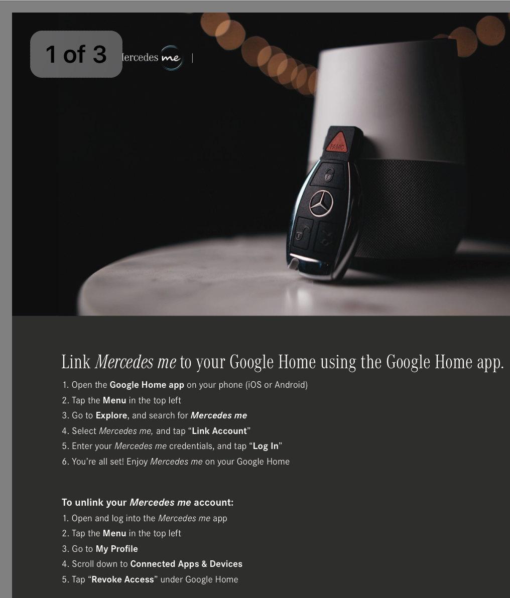 Google Home Mercedes me - MBWorld org Forums