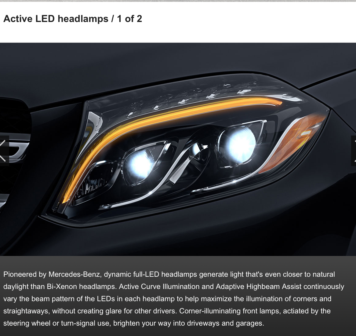 Active LED headlamps / Cornering Lights Missing - MBWorld