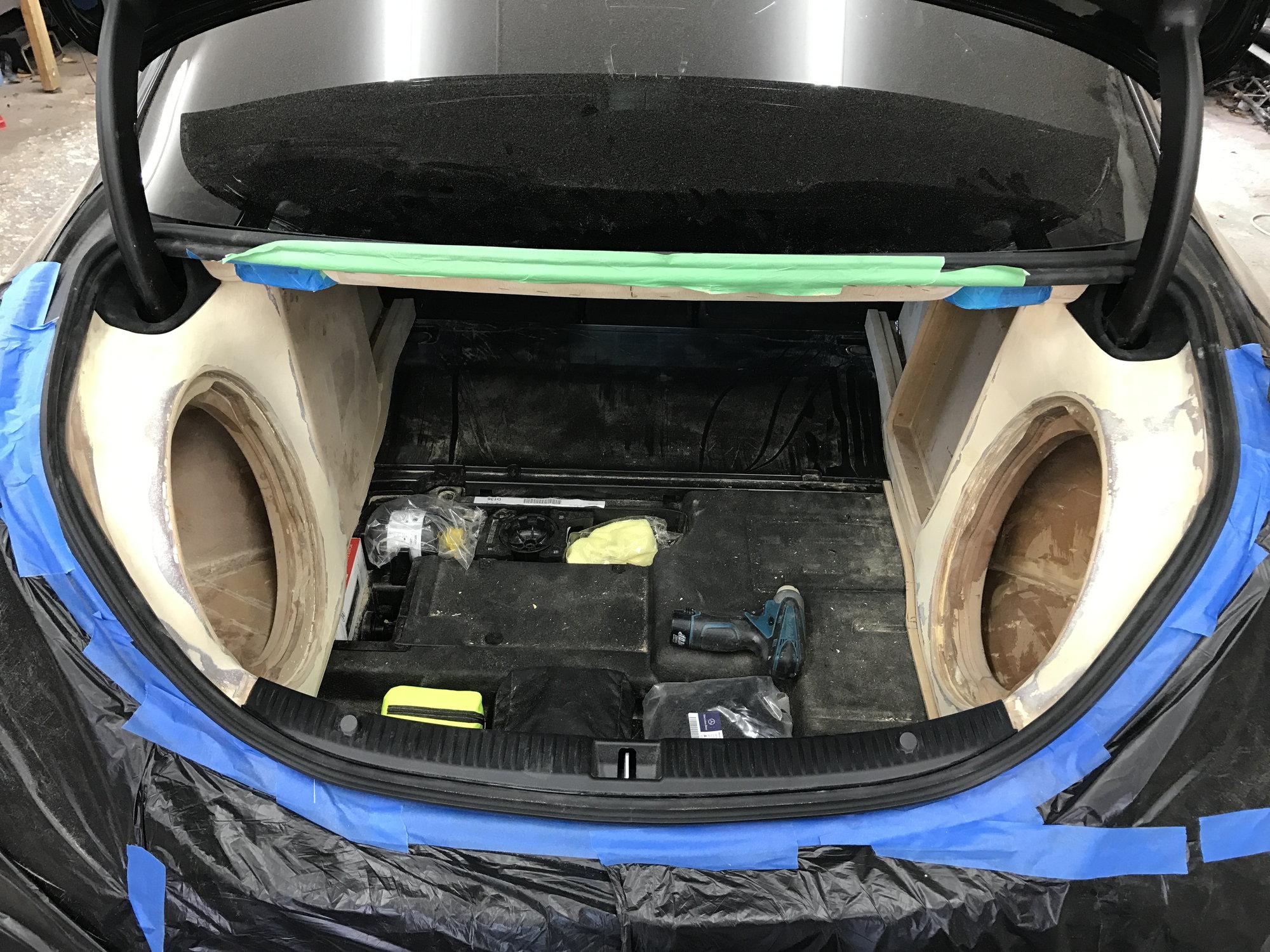 Custom Subwoofer Trunk Install - MBWorld org Forums
