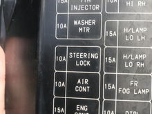 "The fuse on the bottom left: 15A ""Eng Cont"""