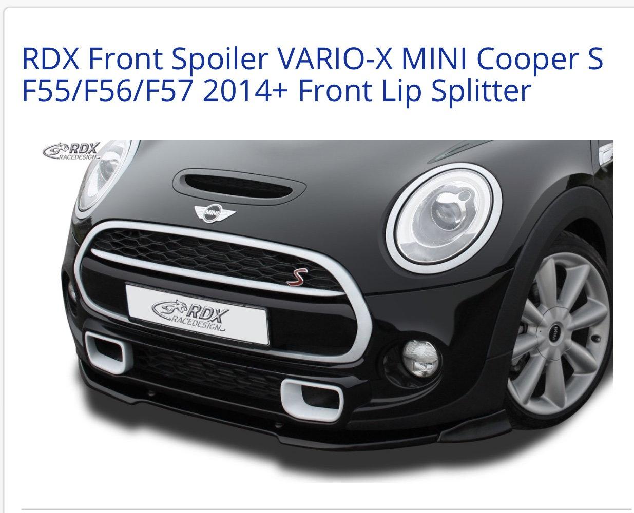 Front Lip Splitter RDX Front Spoiler VARIO-X Cooper S F55//F56//F57 2014