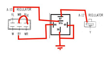 how to 1979 alternator upgrade mazda rx7 forum. Black Bedroom Furniture Sets. Home Design Ideas