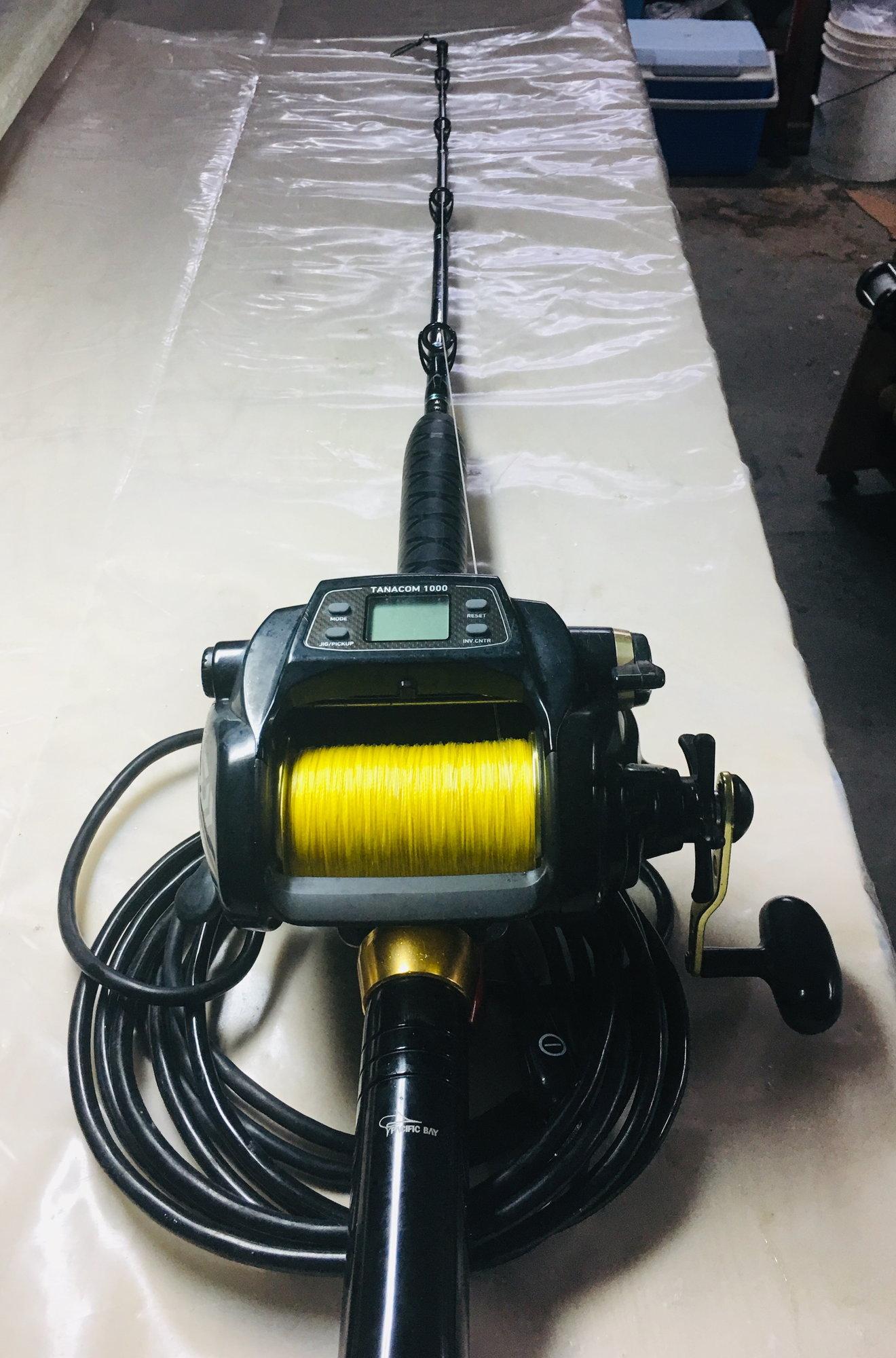 electric reel daiwa rod tanacom drop deep 1000 fishing