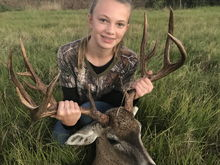 Second buck third deer, I told her she could retire from deer hunting now.