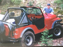 My trusty 81 CJ5 in Emerald Valley between Pikes Peak and Cripple Creek.
