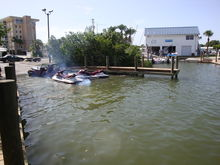 Sunday at the ramp with our new jet skis - let's get um in the water.