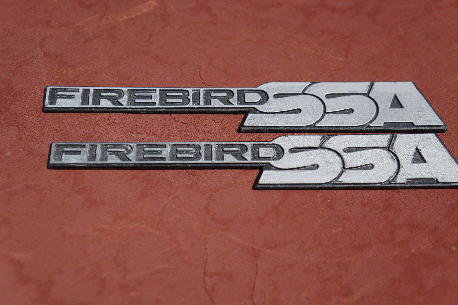 1982-92  FIREBIRD PAIR FENDER ROOF EMBLEM GREY MATT FINISH  85 86 87 88 KITT