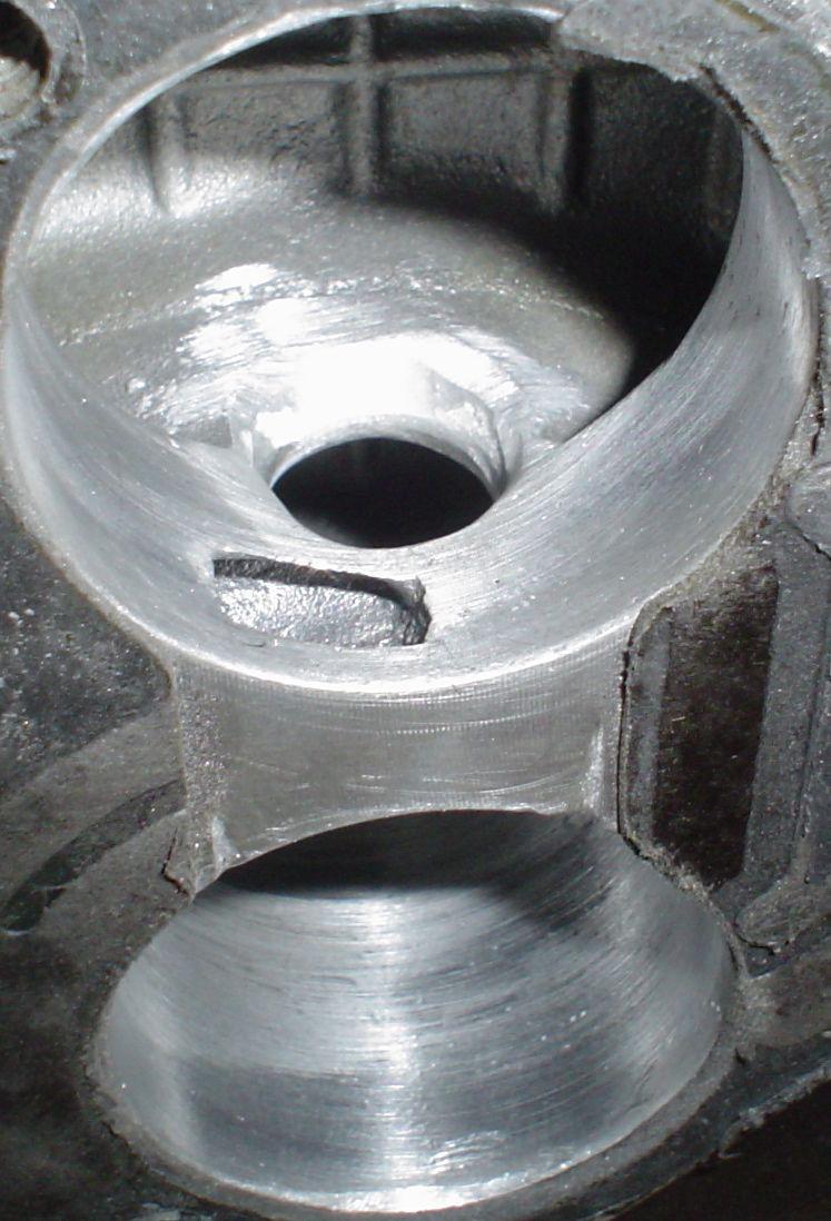 Porting Edelbrock TBI 3704 intake manifold - Third
