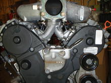"""Space under manifold. I'm possibly running a 1.25"""" coolant pipe through here."""