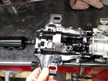 Overhaul the steering column. Clean grease and paint parts to protect from rusting ever again.