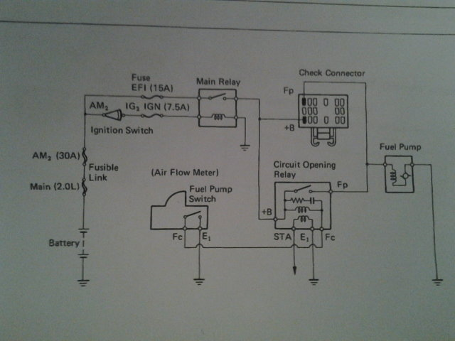 jumping fp and b+ bypasses the cor and the afm  here is the circuit