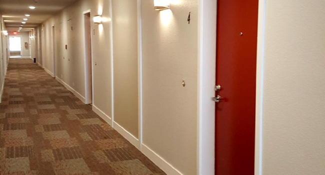 Newly renovated hallways.