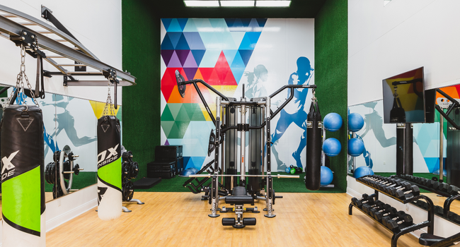 HIIT inspired fitness studio with Boxing