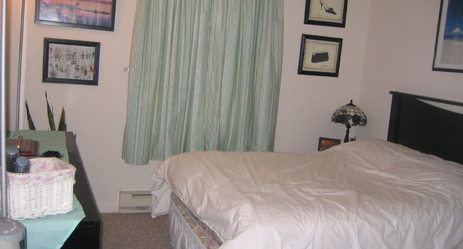 Bedroom, closet is to the right