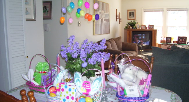 Diningroom and livingroom Easter Morning 2008