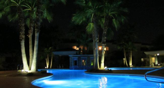 Beatiful pool at night
