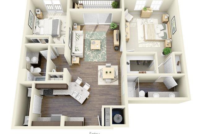 Floor Plan Photo Of Axis Wellington Green In Fl